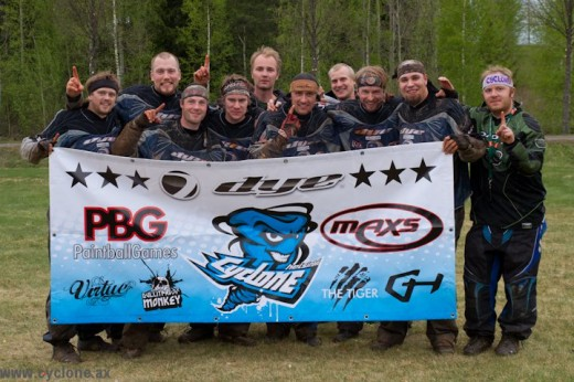Thanks to DYE, MAXS, Goldhammer Paintball, PBG, Virtue, Bullitproof Monkey and THE TIGER. And Jani Andersson for the great pics!